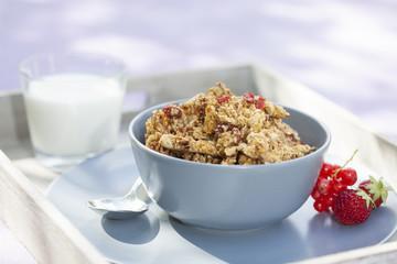 Crunchy Müsli mit Mandelmilch