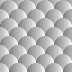 Design seamless monochrome volumetric sphere geometric lines pat