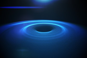 Digitally generated circle with blue light