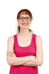 Woman with glasses and smiling