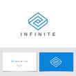 Logo Rhombus Abstract Infinite impossible loop vector design