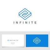 Logo Rhombus Abstract Infinite impossible loop vector design - 70193845