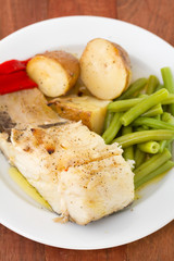 cod fish with potato and beans