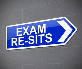 Exam re-sit concept.