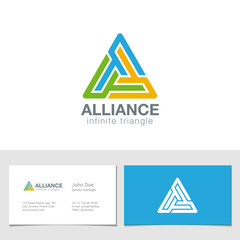 Logo Triangle business technology abstract vector design