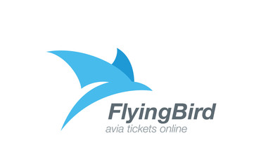 Bird abstract flying logo vector design. Airline ticket