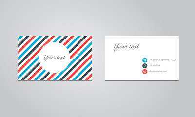 Abstract business cards Design Vector Template