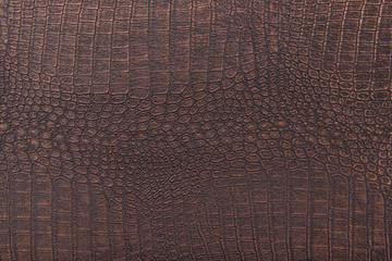 Crocodile skin leather, bronze,metallic background