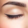 canvas print picture - eye zone makeup