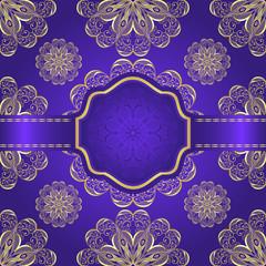 Golden ornamental background