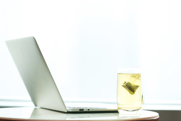 Laptop and Cup of tea