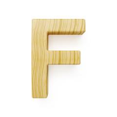 Wooden alphabet letter symbol - F