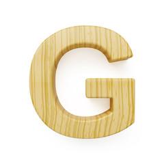 Wooden alphabet letter symbol - G