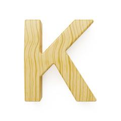 Wooden alphabet letter symbol - K