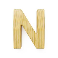 Wooden alphabet letter symbol - N