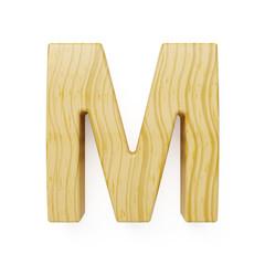 Wooden alphabet letter symbol - M