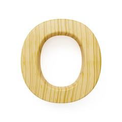 Wooden alphabet letter symbol - O