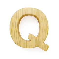 Wooden alphabet letter symbol - Q
