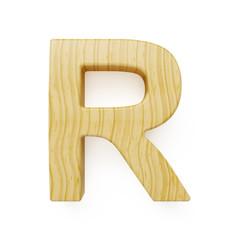 Wooden alphabet letter symbol - R
