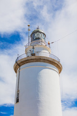 Detail of lighthouse in a sky background