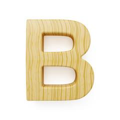 Wooden alphabet letter symbol - B