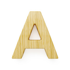 Wooden alphabet letter symbol - A