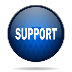 support internet blue icon