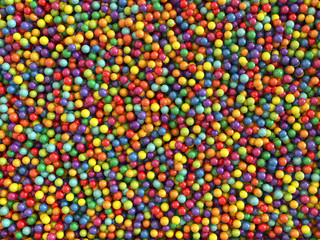 Colorful balls set background