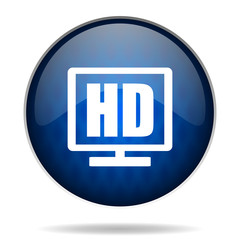 hd tv  internet blue icon