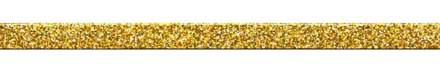 Dekoband -Glitzer/Gold