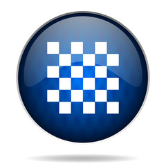 chessboard internet blue icon
