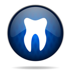tooth internet blue icon