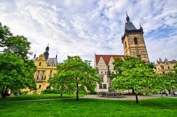Town hall on Karlove Namesti in Prague, Czech Republic