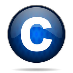 copyright internet blue icon