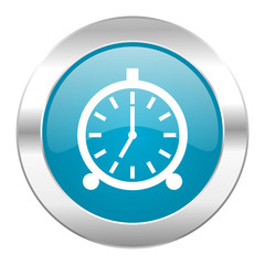 alarm internet blue icon