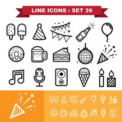 Party ine icons set 39