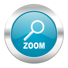 zoom internet blue icon