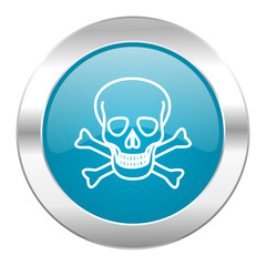 skull internet blue icon