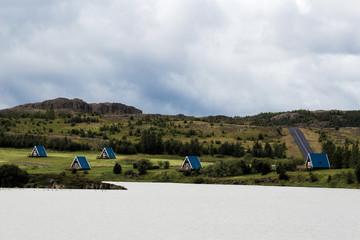 House on the lake. Iceland