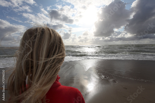 canvas print picture Kind am Strand