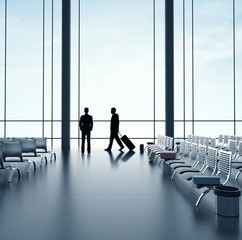 two businessmans in airport
