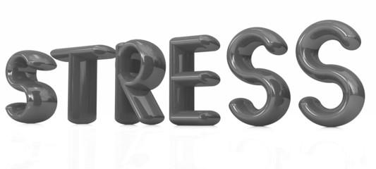 stress 3d text