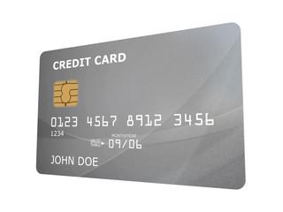 Carte bancaire sur fond blanc