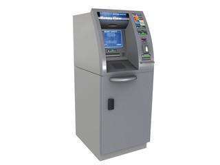 ATM sur fond blanc