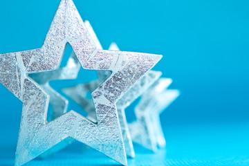 Sterne silber Hintergrund türkis