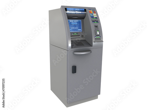 ATM sur fond blanc - 70197235