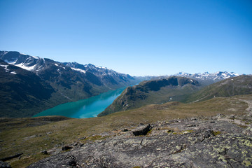 Besseggen Ridge in Jotunheimen National Park, Norway