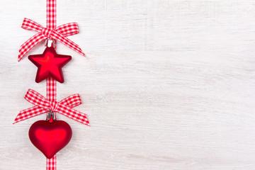 Weihnachten Herz Stern Schleifen rot