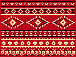 Traditional Native Americans Pattern