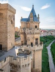 Olite Castle in Navarra, Spain